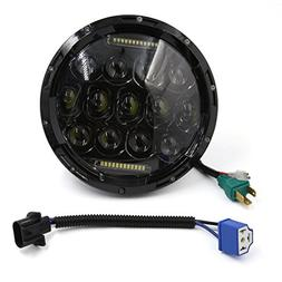"uxcell 7"" 75W Round LED Headlight For Harley Davidson Tourin"