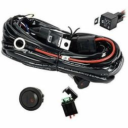 Eyourlife Wiring Harness, Heavy Duty Kit For Led Light Bar 3