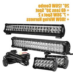 Eyourlife Wiring Harness, LED Light Bar,Spot Beam Off Road W